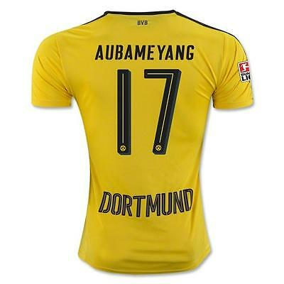 AUBAMEYANG 17 Borussia Dortmund Home jersey for size LARGE