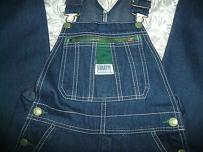Youth LIBERTY Overalls Carpenter Farmer Jeans DENIM Coveralls Youth Size 12