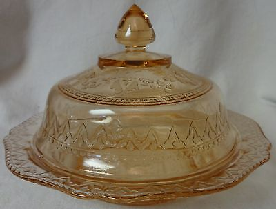 Patrician Pink Butter & Lid Federal Glass Company
