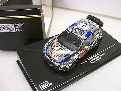 1/43 Ixo model RAM565 VW Polo R WRCRally Wales 2013 Red Bull faces livery