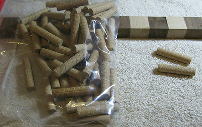 "Lot of 50 New, Unused 1/2"" Birch/Maple Wooden Dowels (INV 6994)"
