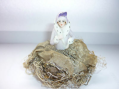 Art Deco    Lady Half Doll / Pin Cushion Doll