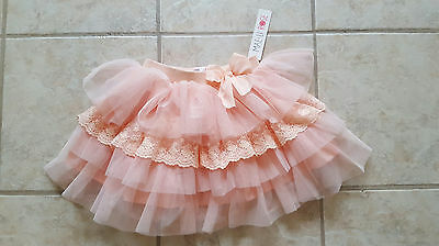 Peach Lace Layer Circle Skirt Toddler and girl Size 4/5