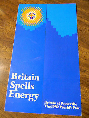 USA 1982 World's Fair Knoxville TN Britain Spells Energy pamphlet