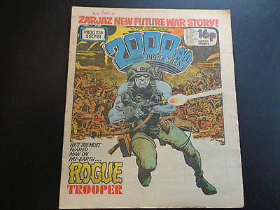 2000AD prog 228 comic in very nice condition (05 Septemb 1981) Judge Death Lives
