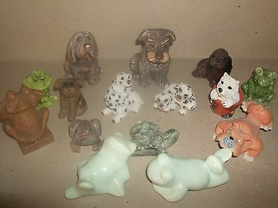 job lot ornaments dogs and frogs