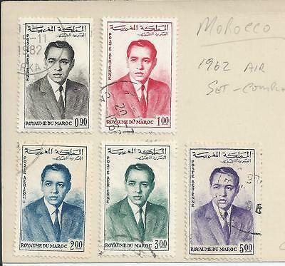Morocco - 1962 Airmail Issue - Complete set used
