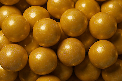 SweetWorks Gumballs - Pearl - Gold - 180 g