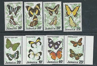 Jamaica - 1975 Butterflies & 1977 Butterflies (2nd Issue) - Un-mounted Mint sets