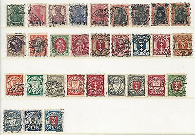 Danzig - Definitives - Thirty different values - Postally Used