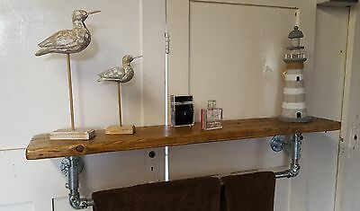 Reclaimed Scaffold Board Kitchen / Bathroom Shelf