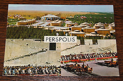 Perspolis-2500th Anniversary of the Founding of the Persian Empire Iran Postcard