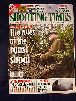 Shooting Times - 24th February - .17 Ackley hornet - Pigeon  - Rabbiting -  Dyfi