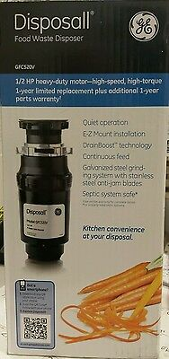 GE 1/2-Hp Noise Insulation Garbage Disposal Septic system safe