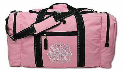 Lightning X Value Firefighter Turnout Gear Bag w/ Maltese Cross Pink