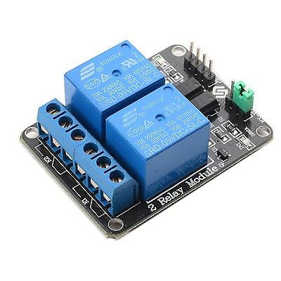 SunFounder 2 Channel DC 5V Relay Module with Optocoupler Low Level Trigger NEW