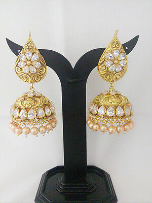 South Indian Jewelry Antique New Jhumka Bollywood Ethnic Gold Plated Traditional