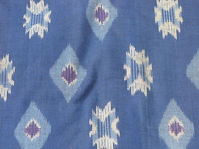 Hand Woven Blue Cotton Ikat Fabric By The Yard, Quilting, Apparel&fashion, Craft