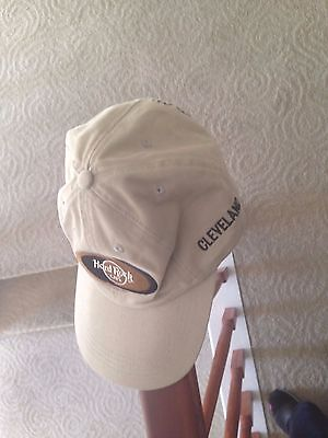 Hard Rock Cafe Cleveland Hat Cap Khaki with pin Love All Serve All