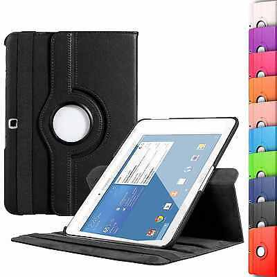 "New Rotating Leather Stand Case Cover For Samsung Galaxy Tab 4 10.1"" / 8'' / 7''"