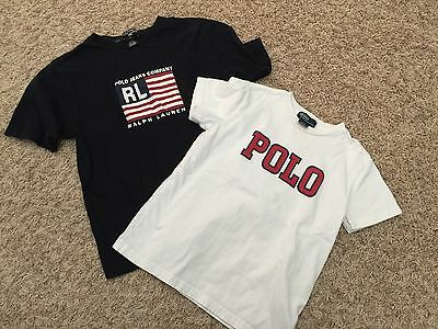 TWO Ralph Lauren Short Sleeve T-Shirts  - Boys Large & size 7 (2302)