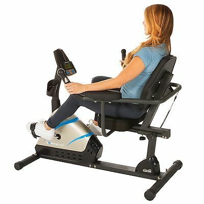 Exerpeutic 2000 High Capacity Programmable Magnetic Recumbent Bike with Air S...