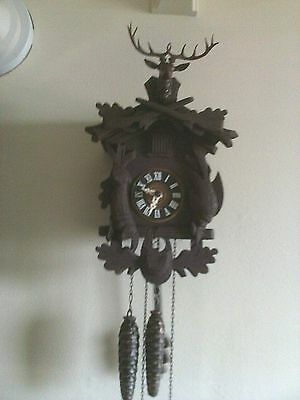 Used Cuckoo Clock:: Small Vintage Hunter's One Day Working  Look !!