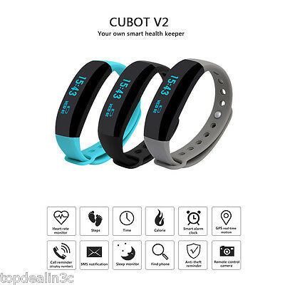 Cubot V2 Smart Watch Bracelet Bluetooth 4.0 Orologio Fitness Heart Rate Monitor