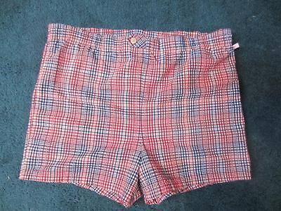 Men's Vintage Jantzen Seersucker Cotton Swim Trunks Size 38
