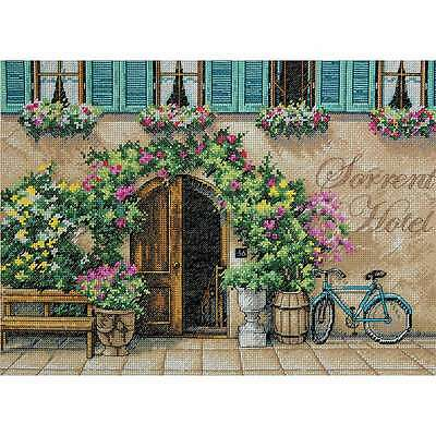 Sorrento Hotel Counted Cross Stitch Kit-14 Inch X 10 Inch 14 Count 088677352707