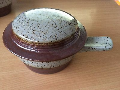 Purbeck Pottery Handled Soup Bowl with Lid