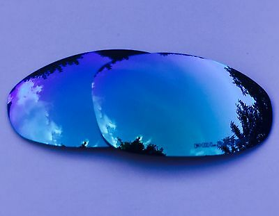 New Engraved Polarized Ice Blue Custom Mirrored Replacement Oakley Juliet Lenses