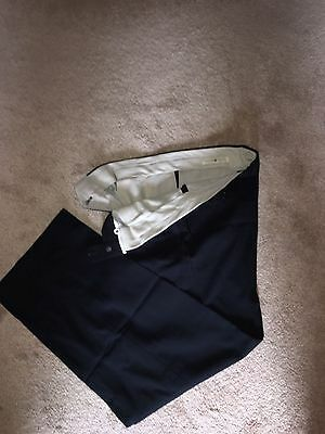 MENS JOSEPH ABBOUD PLEATED DRESS PANTS SIZE 33 x 30 Navy Blue GREAT CONDITION