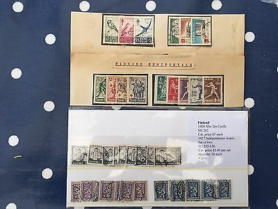 Finland abo castle x9, various early sets incl 1927 indepence anniversary x10