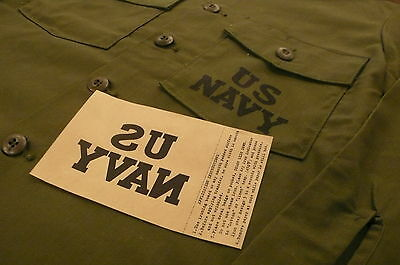 US NAVY IRON ON DECAL for A-2 deck jacket, UTILITY / M 51 M - 65 jacket