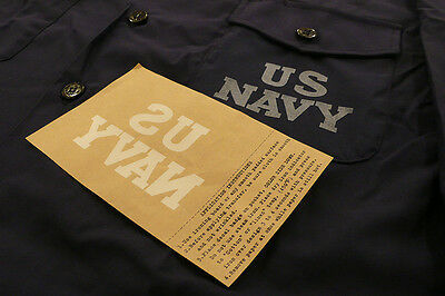 US NAVY IRON ON POCKET DECAL/STENCIL for C. P. O. / UTILITY SHIRT or BDU jacket
