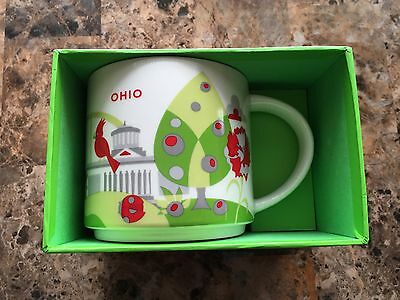 "Original 2015 Starbucks OHIO ""You Are Here"" Series Ceramic Coffee Mug YAH"