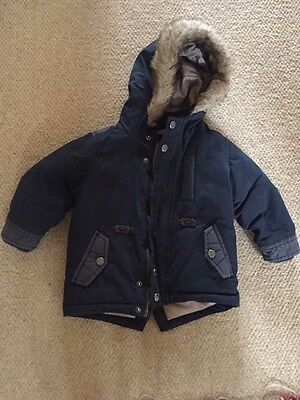 Boys Next Navy Blue Padded Coat 12-18 Months