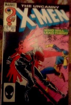 Uncanny X-Men #201 (Marvel 1986) VF-. 1st App Nathan Summers (baby Cable)