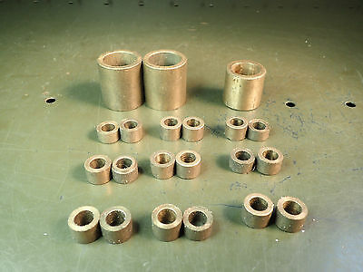 21 Piece Lot of Assorted Bronze Bushings, Used in Good Condition