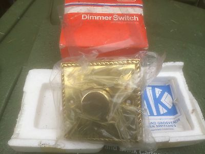 MK Solid Brass Rope Edge Dimmer Switch