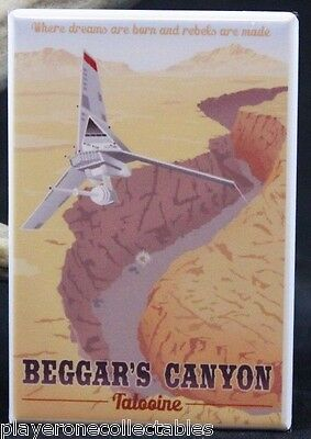 Beggar's Canyon Tatooine - Travel Poster - Fridge / Locker Magnet. Star Wars