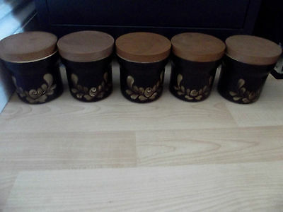 denby bakewell small jars x 5