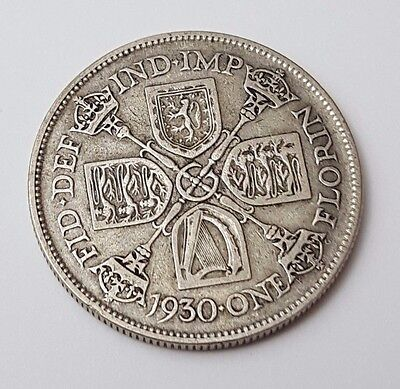 1930 - Silver - Two Shillings / Florin - Great Britain - King George V - UK Coin