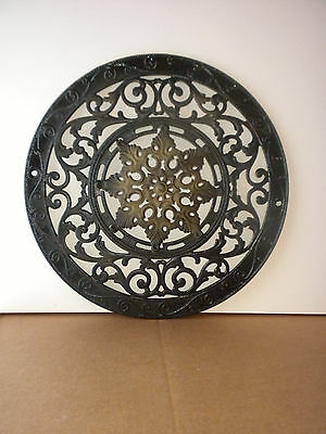 Antique Ornate Cast Iron Wall Air Heat Vent, Circa 1880's