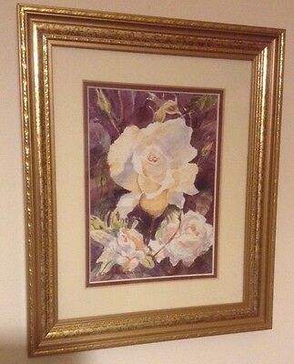 Watercolour Original Painting Roses 2 By Alfred Marsh