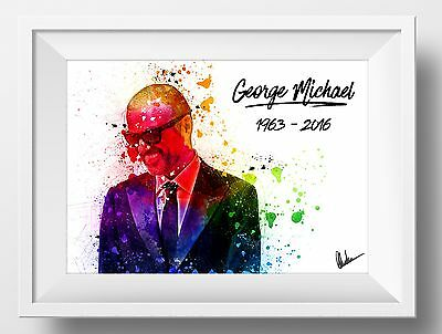 George Michael Poster Custom Made - Limited Edition Signed and Numbered Wham