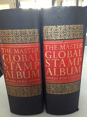2 Master Global Stamp Albums containing 11,000+ Stamps (Combined)