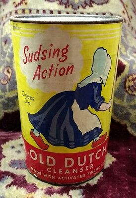 Vintage 5 Inch 14 oz.~ Old Dutch Cleanser Can ~ Full ~ Unopened