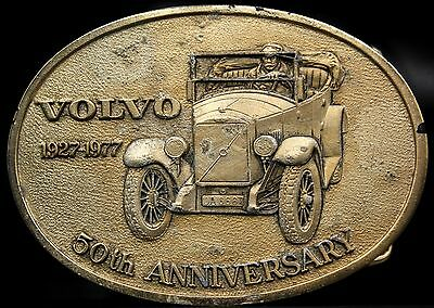 Vtg RARE HTF 1927-1977 Limited Edition VOLVO 50th Anniversary Car Belt Buckle
